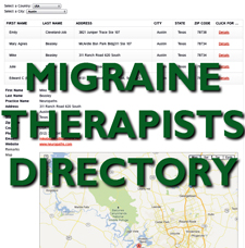 MIGRAINE THERAPISTS DIRECTORY