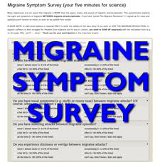 MIGRAINE SYMPTOM SURVEY